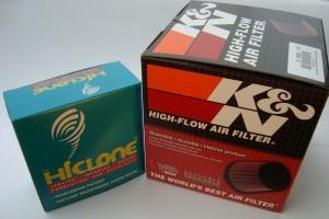 Hiclone & K&N air flter